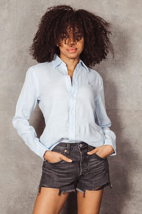 POLO RALPH LAUREN Camicia celeste in lino Relaxed-Fit