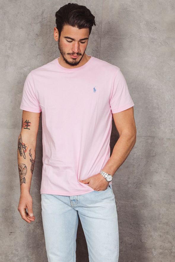 POLO RALPH LAUREN T-shirt Custom Slim Fit pink