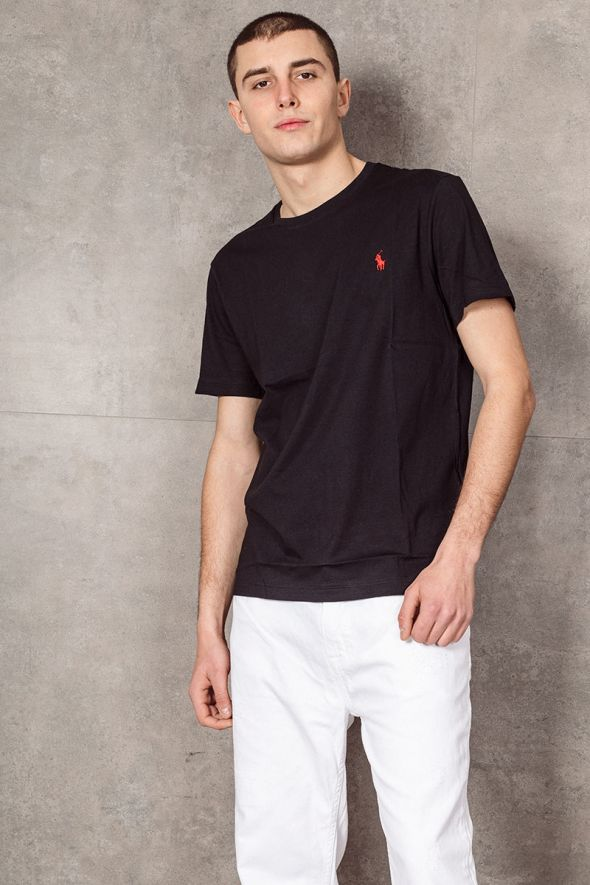 POLO RALPH LAUREN T-shirt in jersey Classic-Fit nera