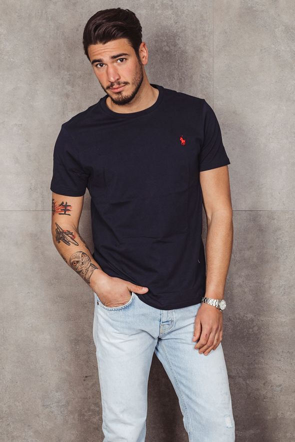 POLO RALPH LAUREN T-shirt in jersey Classic-Fit blu