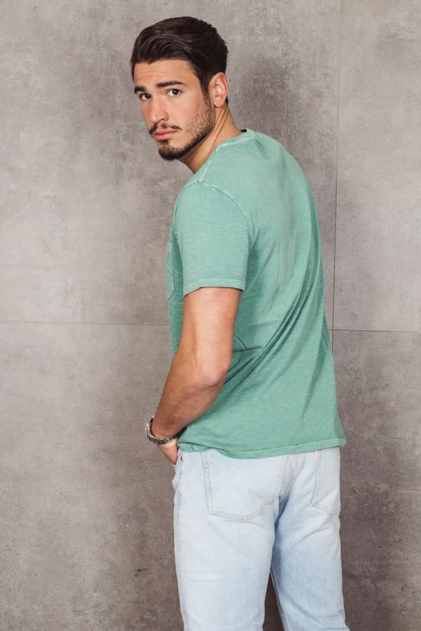 POLO RALPH LAUREN T-shirt con tasca Custom Slim-Fit green