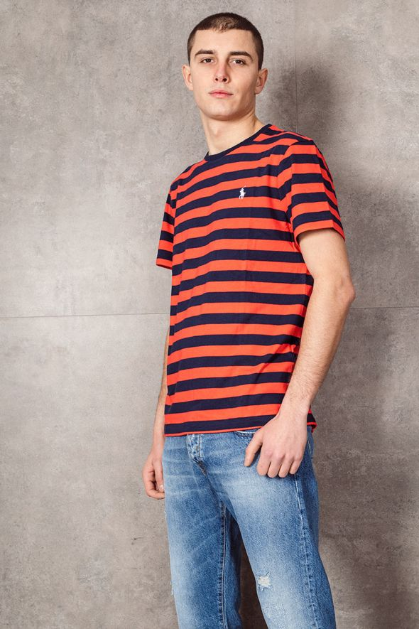 POLO RALPH LAUREN Maglietta a righe Custom Slim-Fit red/navy