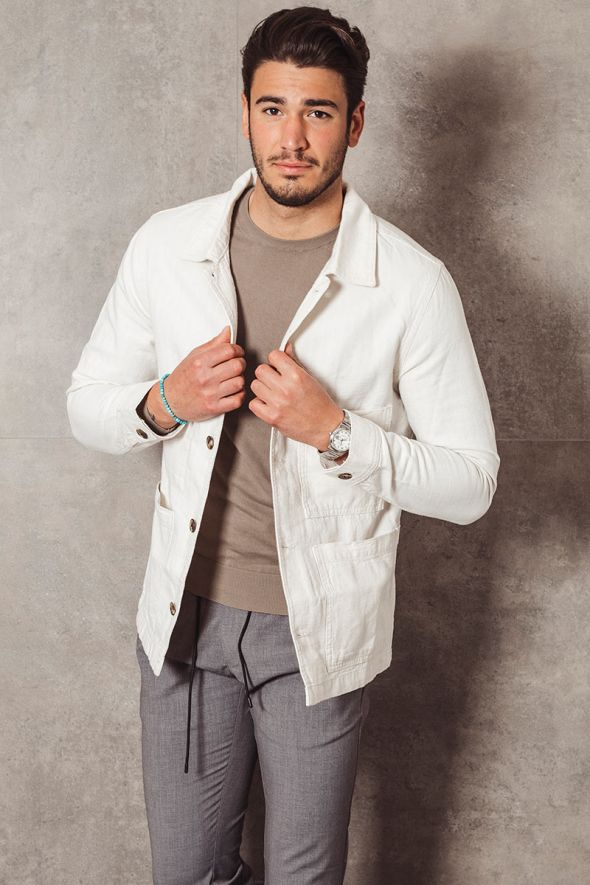 Selected Giacca texture cotone