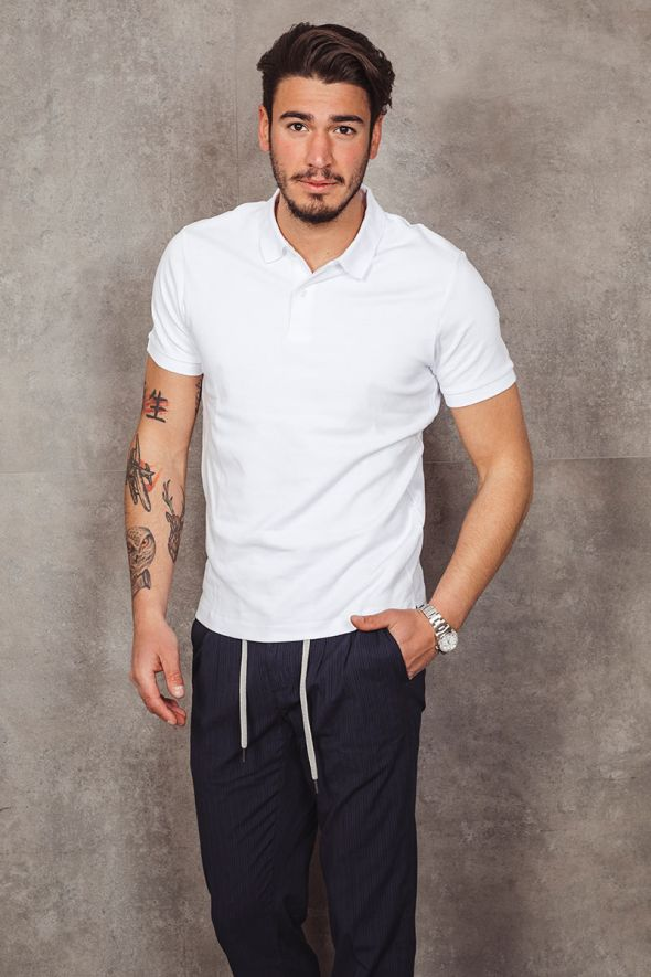 SELECTED Polo bianca regular fit