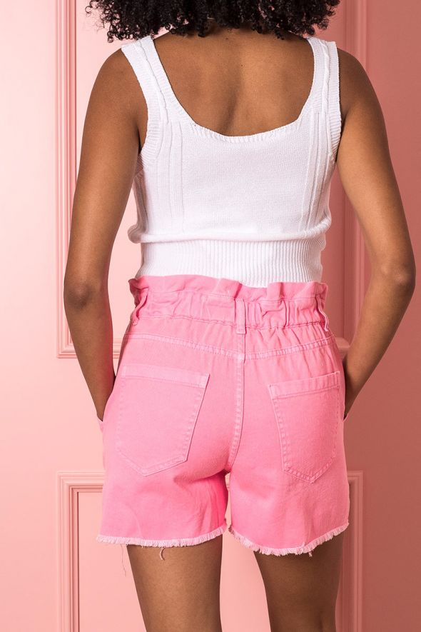 Susy Mix Short paperbag rosa fluo