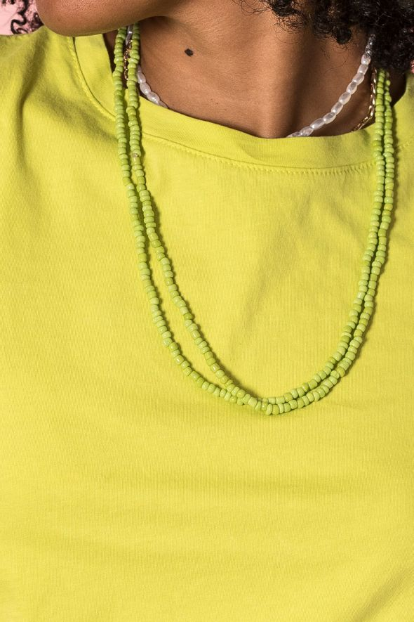 Susy Mix Collana perline lime