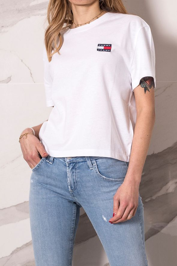 Tommy Hilfigher T-shirt con distintivo tommy