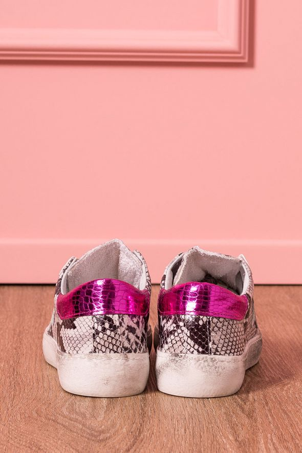 Sneakers stampa snake con stella