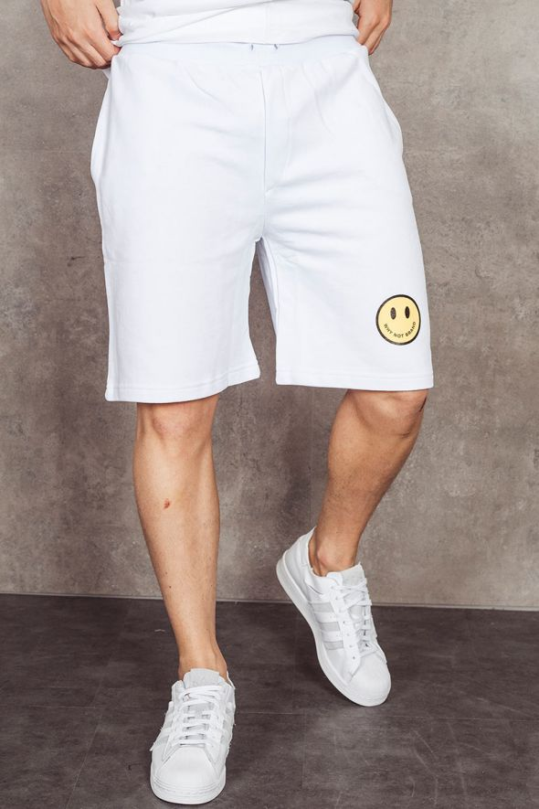 WHY NOT BRAND Shorts bianco con smile