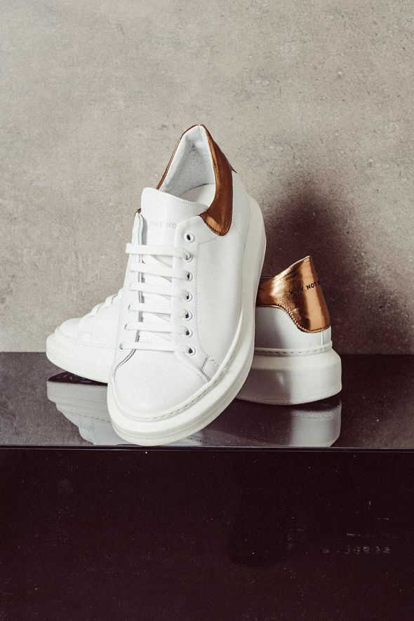 WHY NOT BRAND Sneakers SNK40 bianco oro