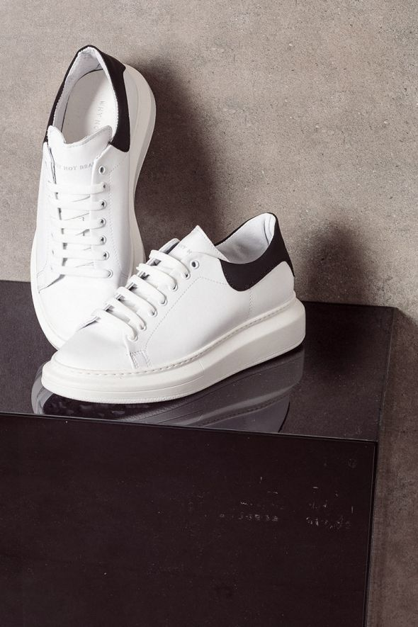 WHY NOT BRAND Sneakers oversize bianco nero