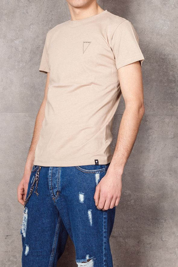 WHY NOT BRAND T-shirt beige con logo